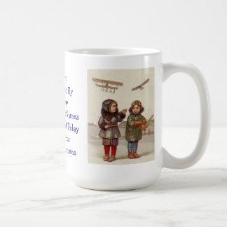 Girls Can Too Fly Vintage Retro coffee mug tea cup
