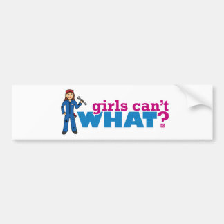 Girls Can't WHAT? Colorize Me Custom Designs Bumper Sticker