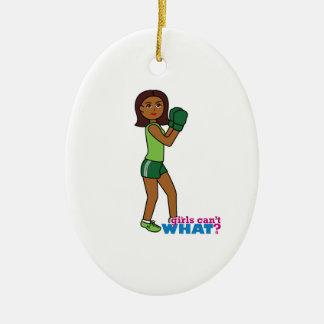 Girls Can't WHAT? ColorizeME Custom Design Christmas Ornament