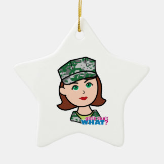 Girls Can't WHAT? ColorizeME Custom Design Christmas Ornaments
