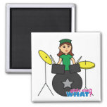 Girls Can't WHAT? ColorizeME Custom Design Square Magnet