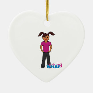 Girls Can't What - Dark Christmas Tree Ornaments