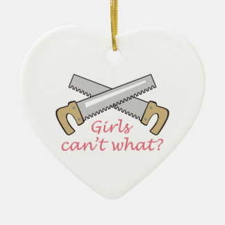 GIRLS CANT WHAT CHRISTMAS TREE ORNAMENT