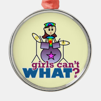 Girls Can't WHAT? Drummer Christmas Tree Ornaments