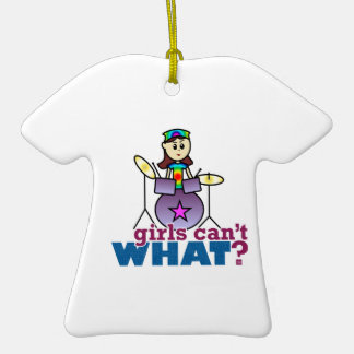 Girls Can't WHAT? Drummer Ornament