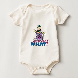 Girls Can't WHAT? Drummer Girl Logo Baby Bodysuit