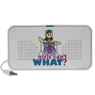Girls Can't WHAT? Drummer Mp3 Speakers