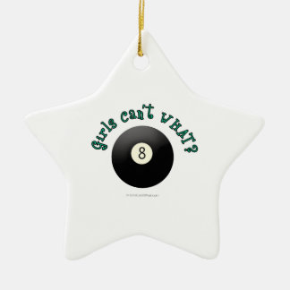 Girls Can't WHAT? Eight Ball Christmas Tree Ornaments
