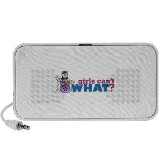 Girls Can't WHAT? Girl Drummer Logo Speaker System