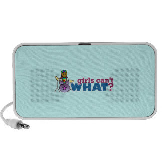 Girls Can't WHAT? Girl on Drums Portable Speaker