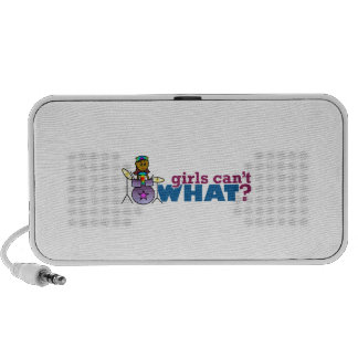 Girls Can't WHAT? Girl on Drums Mp3 Speaker