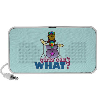 Girls Can't WHAT? Girl Playing Drums Laptop Speakers