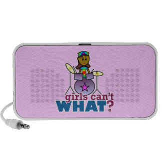 Girls Can't WHAT? Girl Playing Drums iPod Speaker