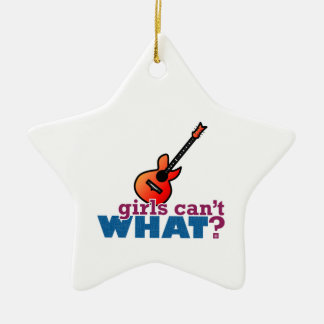 Girls Can't WHAT? Guitar Ornament