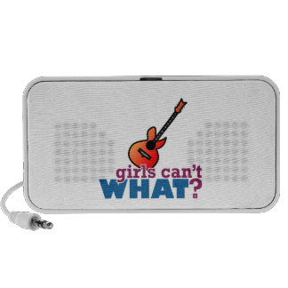 Girls Can't WHAT? Guitar Mp3 Speakers