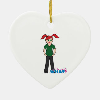 Girls Can't What - Light/Red Christmas Tree Ornaments