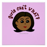 Girls Can't WHAT? Logo Head-Dark Posters
