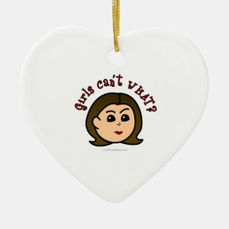 Girls Can't WHAT? Logo Head-Light Christmas Ornaments