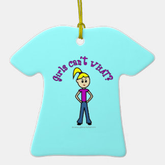 Girls Can't WHAT? Logo-Light Girl Christmas Ornaments