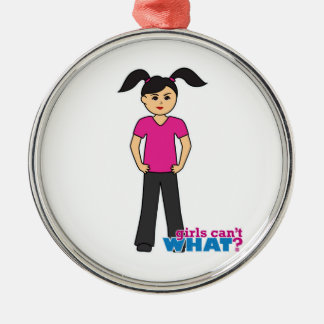 Girls Can't What - Medium Christmas Tree Ornaments