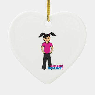 Girls Can't What - Medium Christmas Ornament