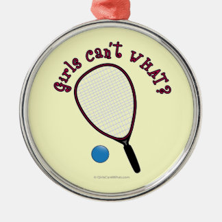 Girls Can't WHAT? Raquetball Christmas Tree Ornament