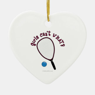 Girls Can't WHAT? Raquetball Ornament