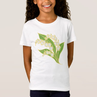 Girls Cap-sleeved T-shirt: Lily of the Valley T-Shirt