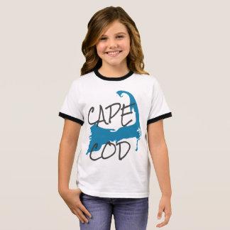 Girl's Cape Cod Massachusetts Shirt in White