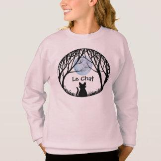 Girl's Cat Lover Shirts Fat Cat Kid's Sweatshirt