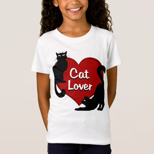Girl's Cat Lover T-shirt Cat Lover Kid's Shirts