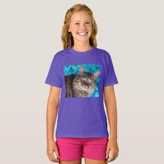 Girls' cat t-shirt