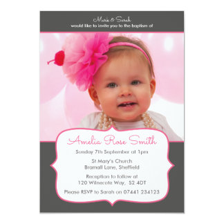 Girls Christening/Baptism Invitation