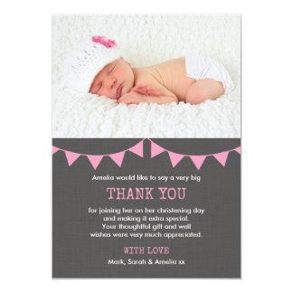 Girls Christening/Baptism Thank You Card