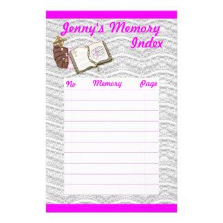 Girls Christening Book Stationery Design