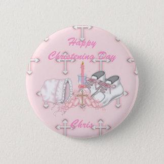 Girls Christening Wish 6 Cm Round Badge