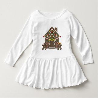 Girls Christmas Gingerbread House Holiday Candy Tee Shirt