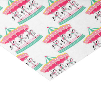 Girls Circus carousel pattern party tissue paper