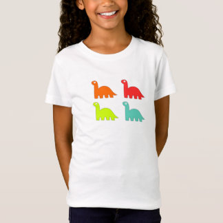 Girls Colorful Dinosaur Shirt