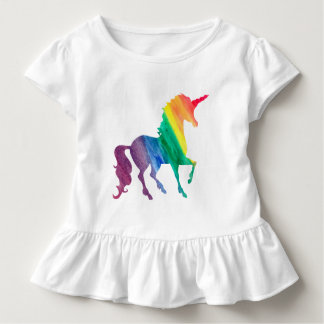 Girls Cool Rainbow Unicorn Watercolor Kids Toddler T-Shirt