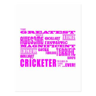 Girls Cricket Pink Greatest Cricketer Postcard
