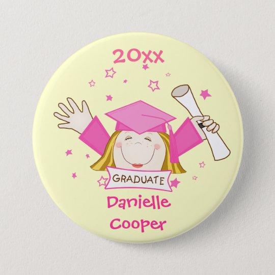 Girl's Custom Kindergarten Graduation Button