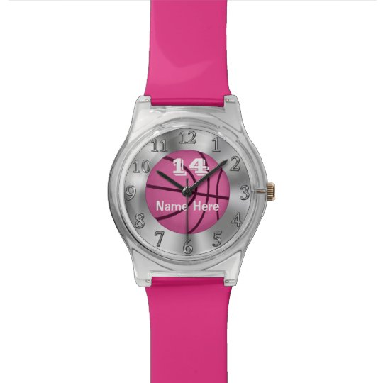 Girls Customisable Basketball Watches NAME, NUMBER