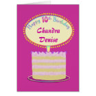 Girls Cute 10th Birthday Personalise It Card