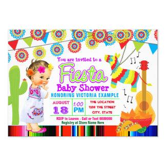Girls Cute Fiesta Baby Shower Invitations