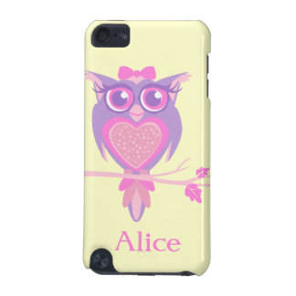 Girls cute owl purple yellow name ipod case iPod touch 5G covers