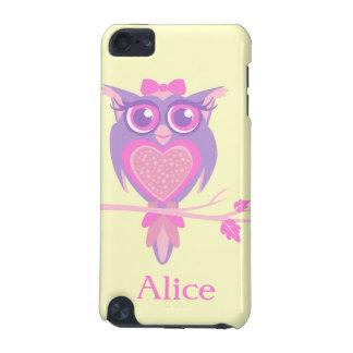 Girls cute owl purple yellow name ipod case