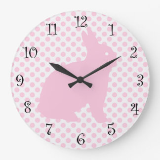 Girls Cute Pink Rabbit Clocks
