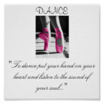 """girls dance, """"To dance put your hand on your he... Print"""