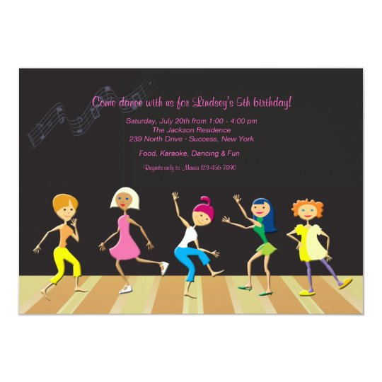 Girls Dancing Party Invitation
